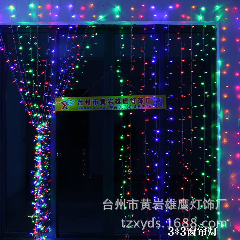 lights LED lights series festive lights wedding room decoration items activities decorative LED curtain lights 300<br>