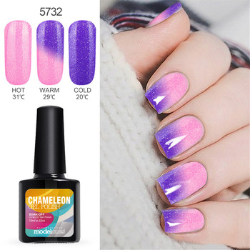Modelones Thermo Change Color UV Gel Nail Primer Long Lasting UV Nail Gel Polish Soak Off Temperature Led Nail Gel Glue