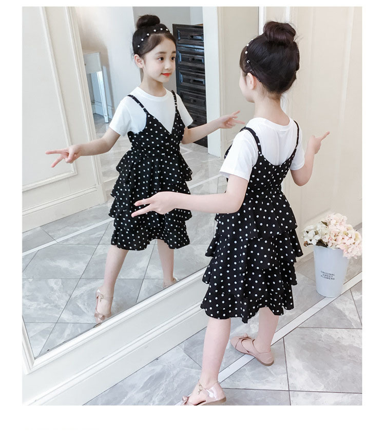 2 Pcs Teenage Girls Clothing Sets Kids Outfits Baby Girls Fashion Clothing Sets Kids Sleeveless Dress And T Shirts Clothes Suits 16 Online shopping Bangladesh
