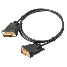 LCD Digital Monitor Professional 1M DVI D To DVI-D Gold Male 24+1 Pin Dual New Link TV Cable For TFT Monitor Black