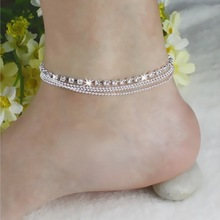 2017 Hot Silver Anklet Fashion Anklets For Women Ankle Bracelets Barefoot Sandals Female Girl Leg Chain Foot Jewelry