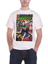 T-Shirt New Arrivals Hot Sale Casual Clothing Bazinga Comic Book Cover Official Mens Red(China)