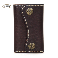 J.M.D Genuine Leather Fashion Style Men's New Style Chocolate Color Key Bag Card Holder Key Case Car Key Bag Supplier 8130Q-1(China)