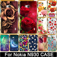 Beautiful Flower Rose Peony Tulip Fish Swan Butterfly Moon PC Case For Nokia Lumia 930 929 N930 Cell Phone Cover Skin Shell Hood