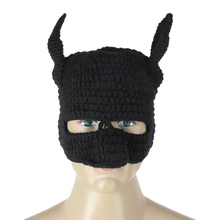 Winter Beanie Crochet Cool Cosplay Mask Knitted Hats Helmet EarFlap black solid Cap DM#6