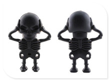 Cranial skeleton head USB 2.0 USB Flash Drive thumb pendrive u disk usb creativo memory stick 4GB 8GB 16GB 32GB 64GB S320