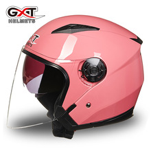 GXT 512 New Adult Half Face Motorcycle Helmet Dual Lens Four Season High Safety Quality Motorbike Racing Helmet For Male Female(China)
