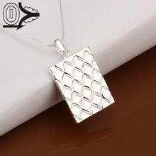 Free Shipping!!Wholesale Silver Plated Necklace & Pendant,Fashion Jewelry Accessories,Solar Panels Stripe Silver Necklaces(China)