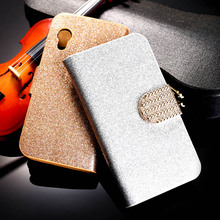 PU Leather Flip Case Bling Diamond Phone Case Cover For Samsung Galaxy Ace S5830 S5830I GT-S5830i 5830 3.5'' Wallet Case Holster