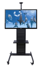 37-70 inch LCD LED Plasma TV Floor Display Stand Carts/Trolley With DVD Holder And Camera Holder(China)