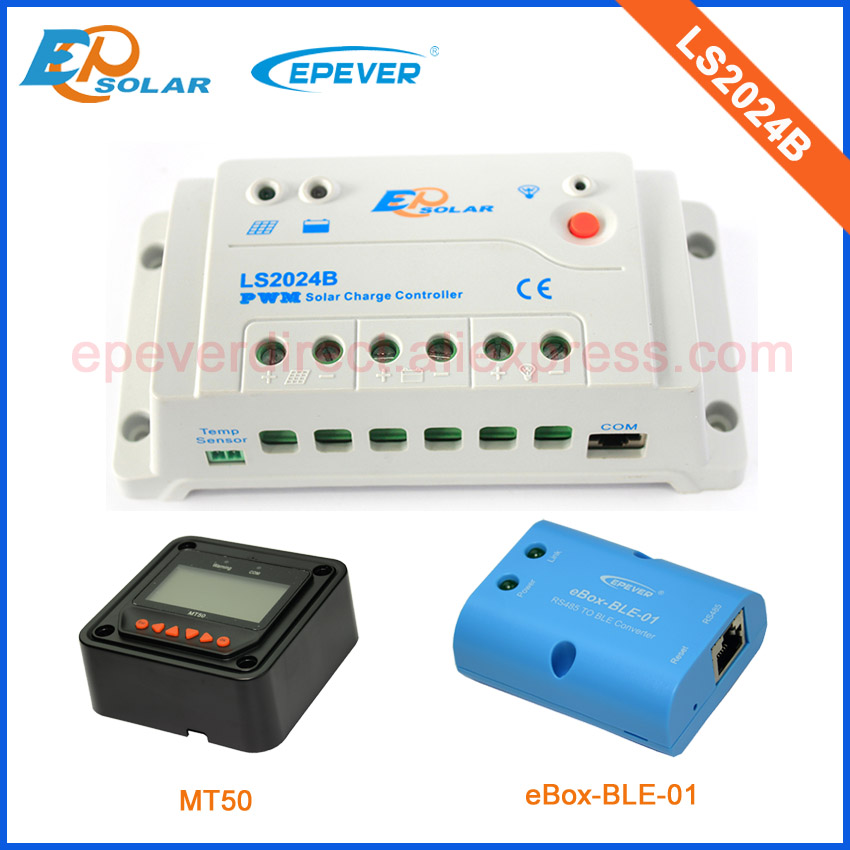 20amp 20A Regulator solar panel Battery Charge Controller LS2024B with black MT50 and BLE funciton for home use <br>