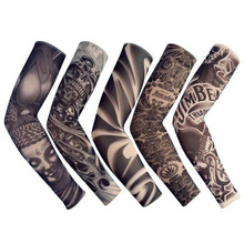 Fashion Summer Tattoo Arm Warmers Riding Outdoor Ice Sunscreen Sleeve Unisex Sport Ultraviolet-proof Essential  1piece Gifts