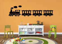 Mad World-Steam Train Silhouette Wall Art Stickers Decal Home DIY Decoration Wall Mural Removable Bedroom Decor Wall Stickers