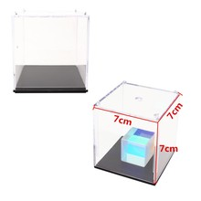 2.8''/7cm Mini Transparent Clear Acrylic Display Box Show Case Dustproof Tray Protection Box For Model Dustproof ShowCase