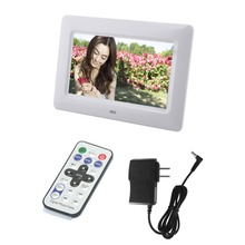 US 7 inch Mini Digital Photo Frame, Photo, Music & Video Player, Remote Clock & Calendar, Best Gift Wholesale