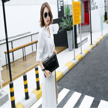 New Arrival Small Envelope Elegance Korea Style Handbag Fashion Casual Party Personality Women Black Rivet Shoulder Handback(China)