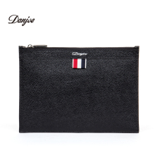 DANJUE Men's Envelope Bag 100% Genuine Leather Brand Day Clutch Thin Luxury Ipad mini Handbag Male Casual Business handy Bags