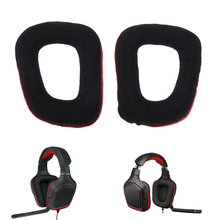 Red 1 Pair Replacement Ear Pads Cushions for Logitech G35 G930 G430 F450 Headphones High Quality