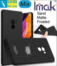 imak Frosted Sand Case Cover For Xiaomi Mi Mix TPU Silicone Matte Skin Protector Anti-fingerprint + Soft Film