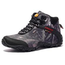 Los hombres más nuevos zapatos de senderismo zapatos de lona impermeable  zapatos al aire libre zapatos dedab74e0135