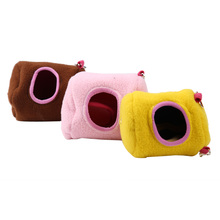 Pet  Hammock Rat Hamster House Plush Cotton Hammock Hanging Tree Bed Nest Cages for Rat Hamster Squirrel Small Animal E5M1