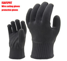 ISAFEPRT Level 5 Anti-cutting gloves Polyester + Wire Anti-cutting gloves Metal work Glass processing Protective gloves