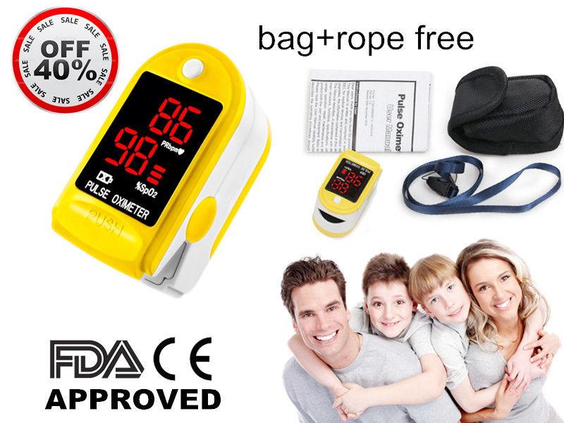 CE FDA FingerTip Pulse Oximeter LED Blood Oxygen SPO2 Pulse Heart rate monitor<br><br>Aliexpress