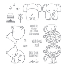 Honey bear cute animal Transparent clear Stamp rubber seal for DIY Scrapbooking/Card Making/ Decoration Supplies(China)