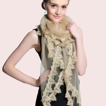 Lace Scarf Silk Scarf Women Silk Eugen Gauze Squash Towel Shawl Spring and Autumn Winter(China)