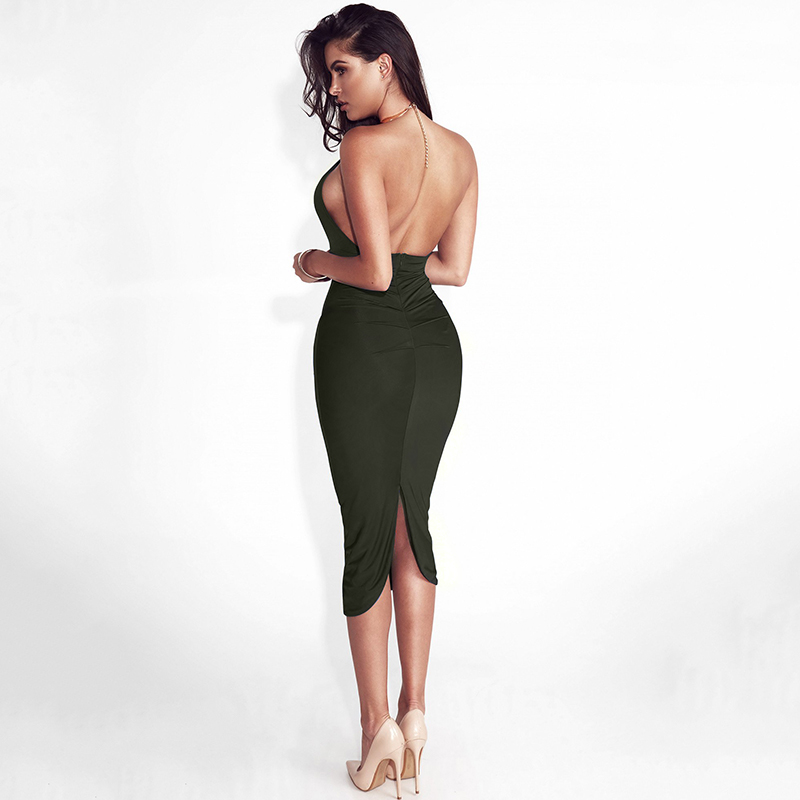 Articat Hollow Out Party Bodycon Bandage Dress Women 17 Off Shoulder Choker Long Pencil Dress Sexy Backless Split Winter Dress 12