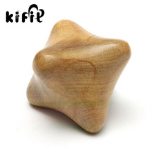 KIFIT New Traditional Wood Massager Hexagonal Acupuncture Hand Play Health Ball Stars Roller Massager Mouse Hand Treatment Tool