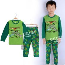 Cotton Children Clothing Set Long Sleeve T-shirt Tops Pants Baby Sleepwear Pijama Kids Pajamas Pjs