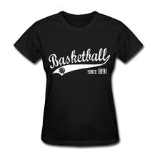 Basketballer Since 1891 Slogan Women's T-Shirt Print Women Streetwear T Shirt Women Novelty Tops Tees Light Classic(China)