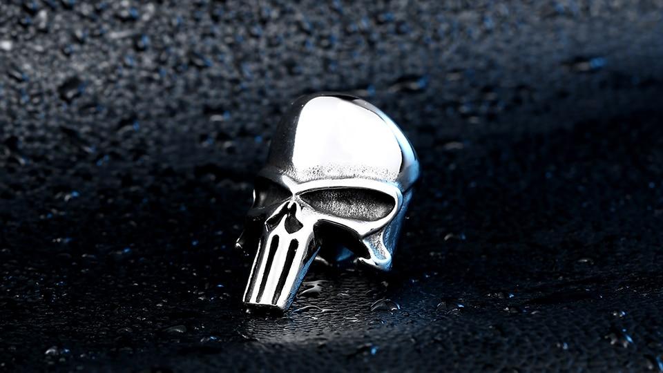 แหวนโคตรเท่ห์ Code 012 แหวน Punisher สแตนเลส 6