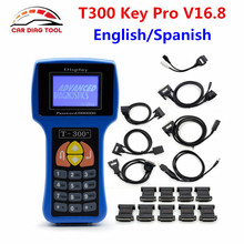 T-CODE T300 Key Programmer V16.8 Professional Universal Auto Transponder Key Decoder T 300 Car Key Prog With English Or Spanish