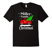 Miller Family Christmas Matching Family Shirts Old Red Truck Short Sleeve Discount 100 % Cotton T Shirts New Fashion T-shirts(China)