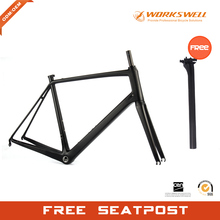 Chinese WORKSWELL OEM design ultralight competitive road bicycle frameset full carbon endurance road bike frame(China)