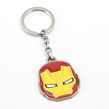JM Superman Iron Man Thor Keychain 2017 New Design Super Heroes Mask Metal Cartoon Key Chain Ring Holder Llavero