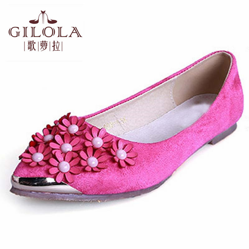 New women flats flowers ladies flat women shoes spring summer autumn womens fashion shoes woman rose #Y0955017Q<br><br>Aliexpress