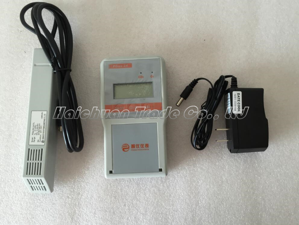New Portable 2 in 1 Gas Detector Tester Meter Analyser Warner Carbon Dioxide + Oxygen O2&CO2 PGas-24(China (Mainland))