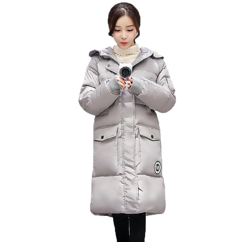 Plus Size Winter Jacket Women 2017 New Loose Casual Cotton Coat Hooded Long Sections Parkas Female Overcoat PW0235 Одежда и ак�е��уары<br><br><br>Aliexpress