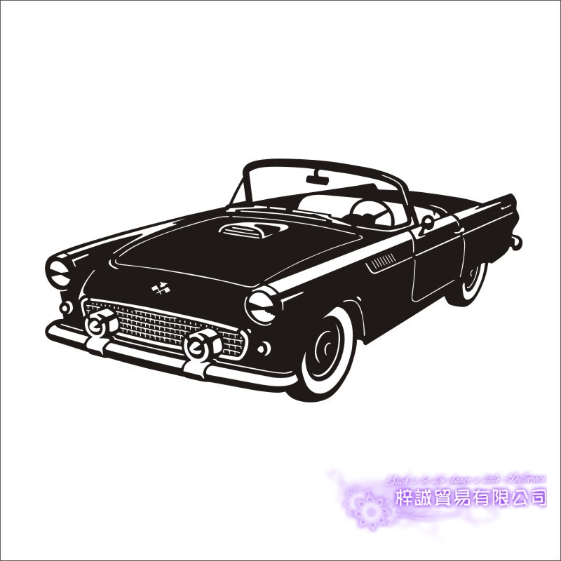 Car Sticker Vehicle Decal Classic Cars Posters Vinyl Wall Decals Pegatina Quadro Parede Decor Mural Car Sticker