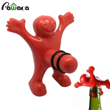Wine Stopper Kitchen Bar Red Fun Happy Man Guy Wine Soda Beer Bottle Stopper for Kitchen Dining & Bar Newest Interesting Gift