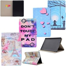 Cover For Amazon Kindle Paperwhite Case For Paperwhite 1/ Paperwhite 2/ Paperwhite 3 Flip Tablet Case PU Leather Painted Case(China)