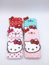 New 3D Cartoon Hello Kitty Case Pendant Bowknot Soft Silicon Cover for Samsung Galaxy Grand Prime G530 G530H G5308W G531