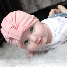 Bohemia Baby Girl Hat Cotton Toddler Baby Girls Cap Newborn Photography Props Candy Color Beanies Accessories GH171(China)