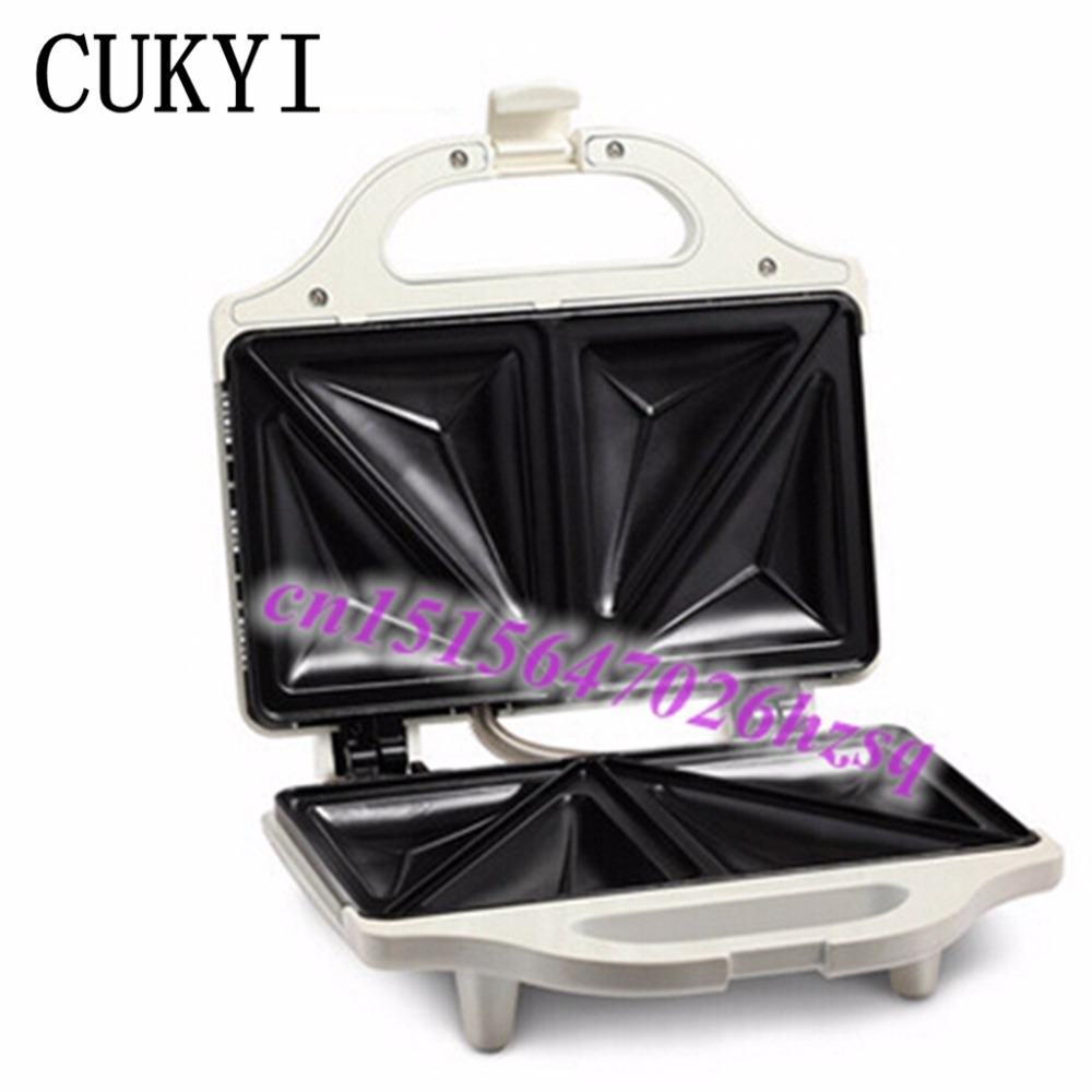CUKYI sandwich maker easy using non-stick cooking surface Small cute useful Non-slip base  Heat evenly sandwich toaster<br>