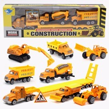 Hot Sales Toy Gift 4-in-1 Metal Engineering car Engineering transport vehicle/Dump truck/mixer Car/Big truck model Free shipping