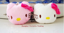 Cute Little 4*3CM Hello Kitty Doll , Plush Stuffed TOY String Decor Toy , Wedding Bouquet Gift Plush Toys accessories Dolls