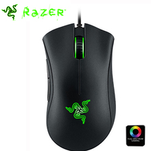 Original Razer Deathadder Chroma Gaming Mouse 10000dpi Optical Sensor Wired Computer USB Right Hand Mouse Mice + retail package(China)